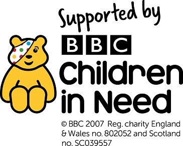 Image of Pudsey bear and Children in Need logo