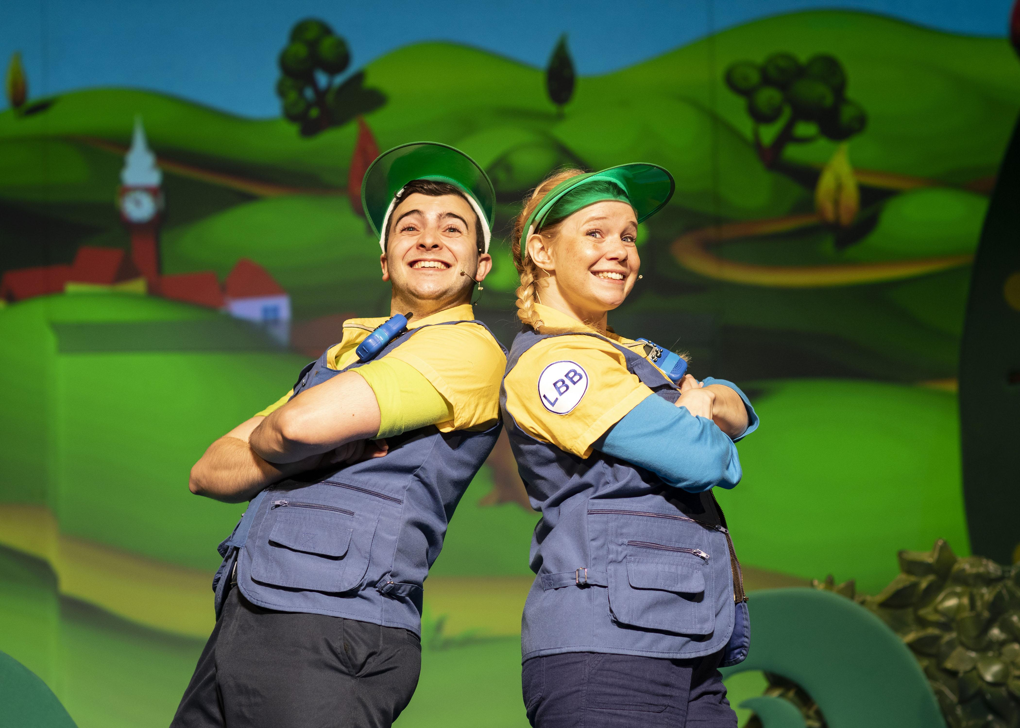 2. LITTLE BABY BUM LIVE. Henry James Cox (Tour Guide) and Charlotte Cooper (Tour Guide). Photo Helen Maybanks.jpg