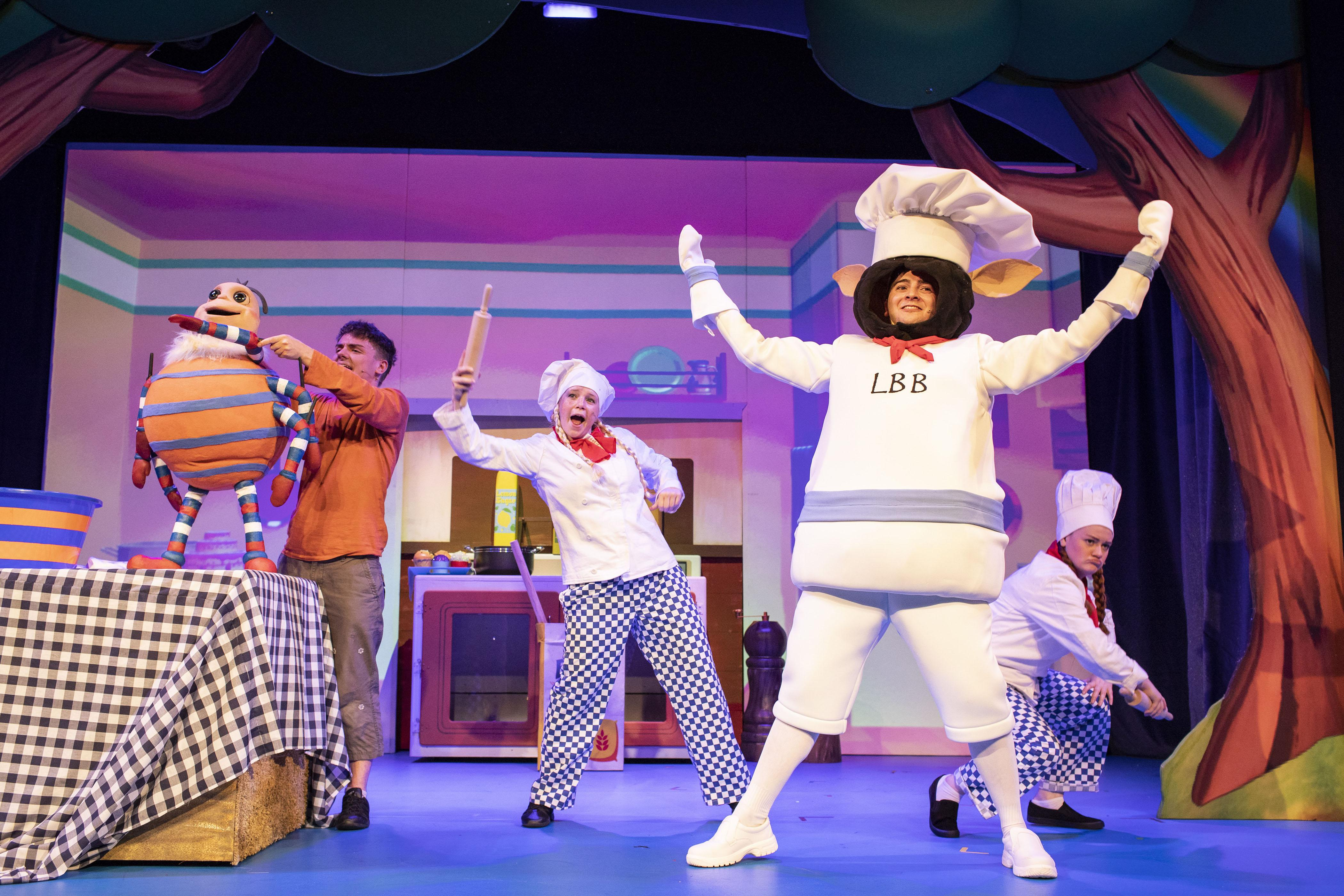 9. LITTLE BABY BUM LIVE. Jack McNeill (Incy), Charlotte Cooper (Chef), Henry James Cox (BaaBaa), Rebecca Withers (Chef).jpg