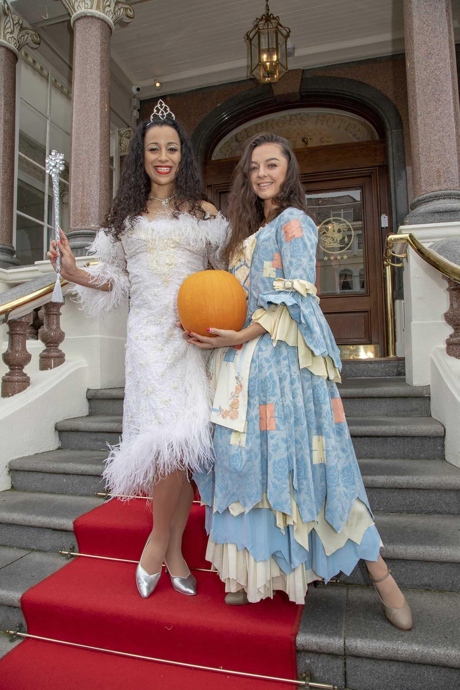 image of Natalie Winsor (Fairy Godmother) and Carly Burns (Cinderella)