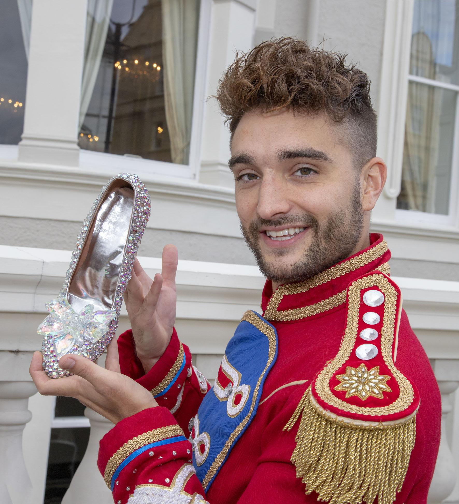 image of Tom Parker (Prince Charming) with glass slipper