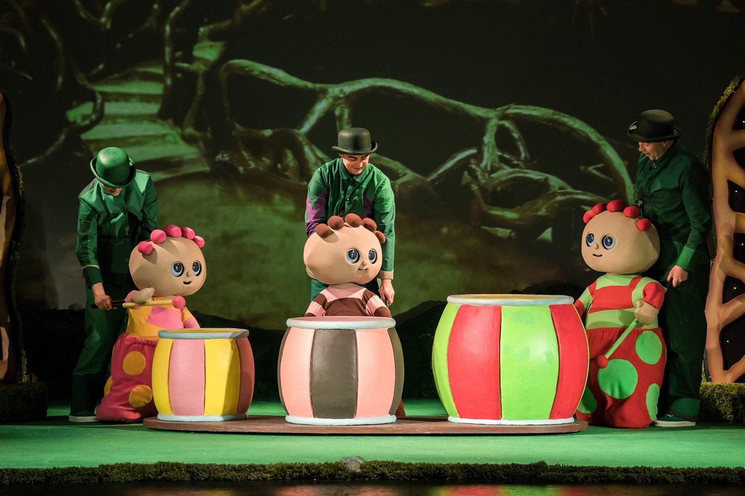 Image of the Tombliboos playing the drums