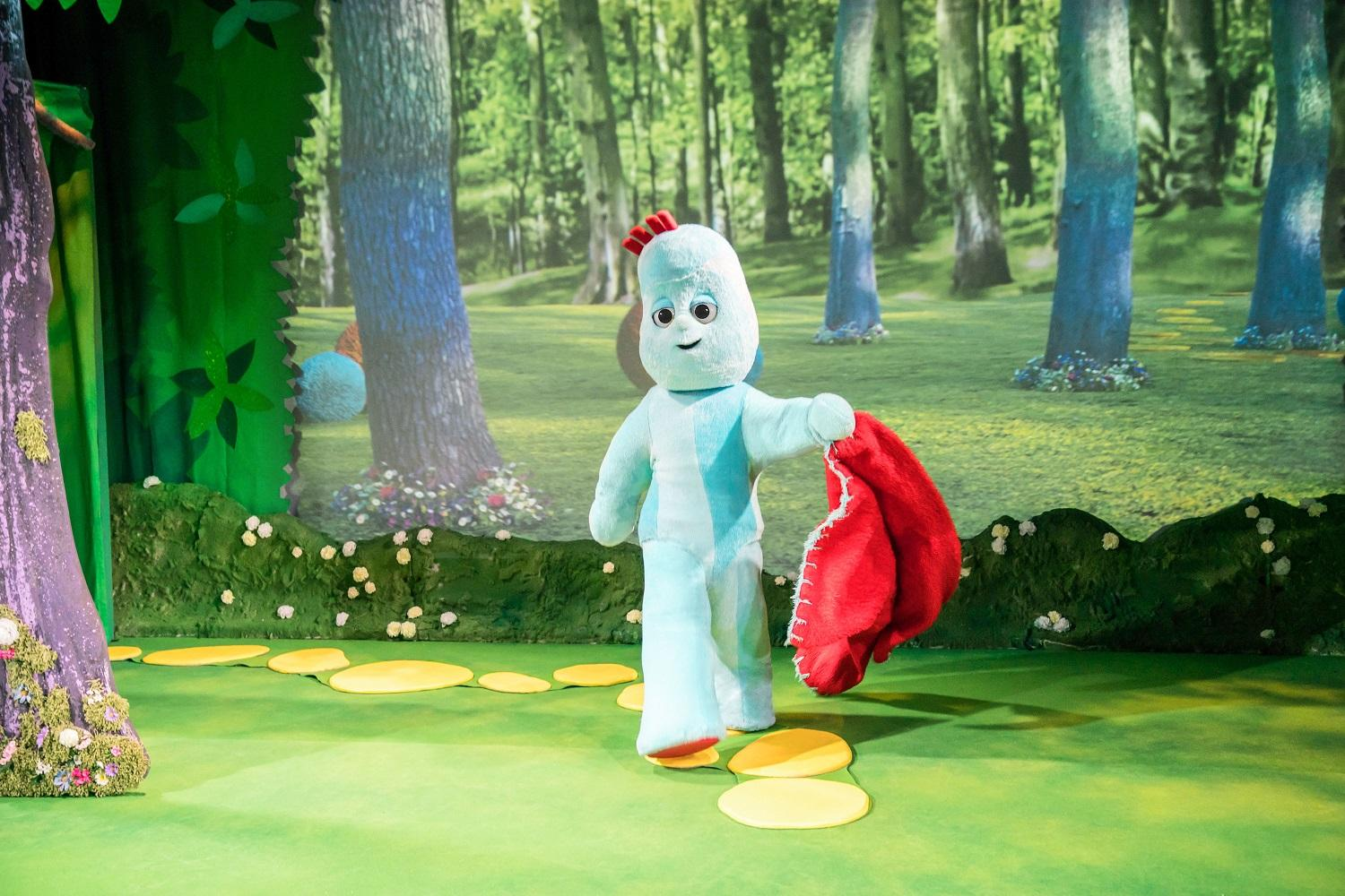 Image of Iggle Piggle walking through the night garden