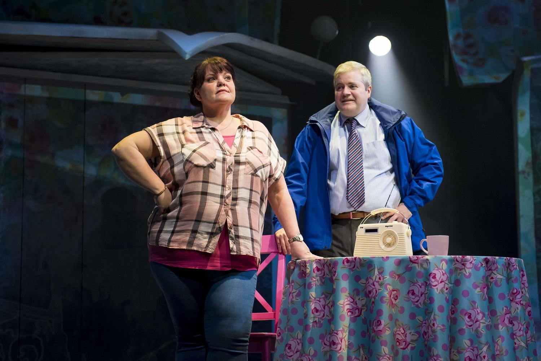 Rachel Lumberg as Rachel and Martin Miller as Jeff in The Band, credit Matt Crockett (2)