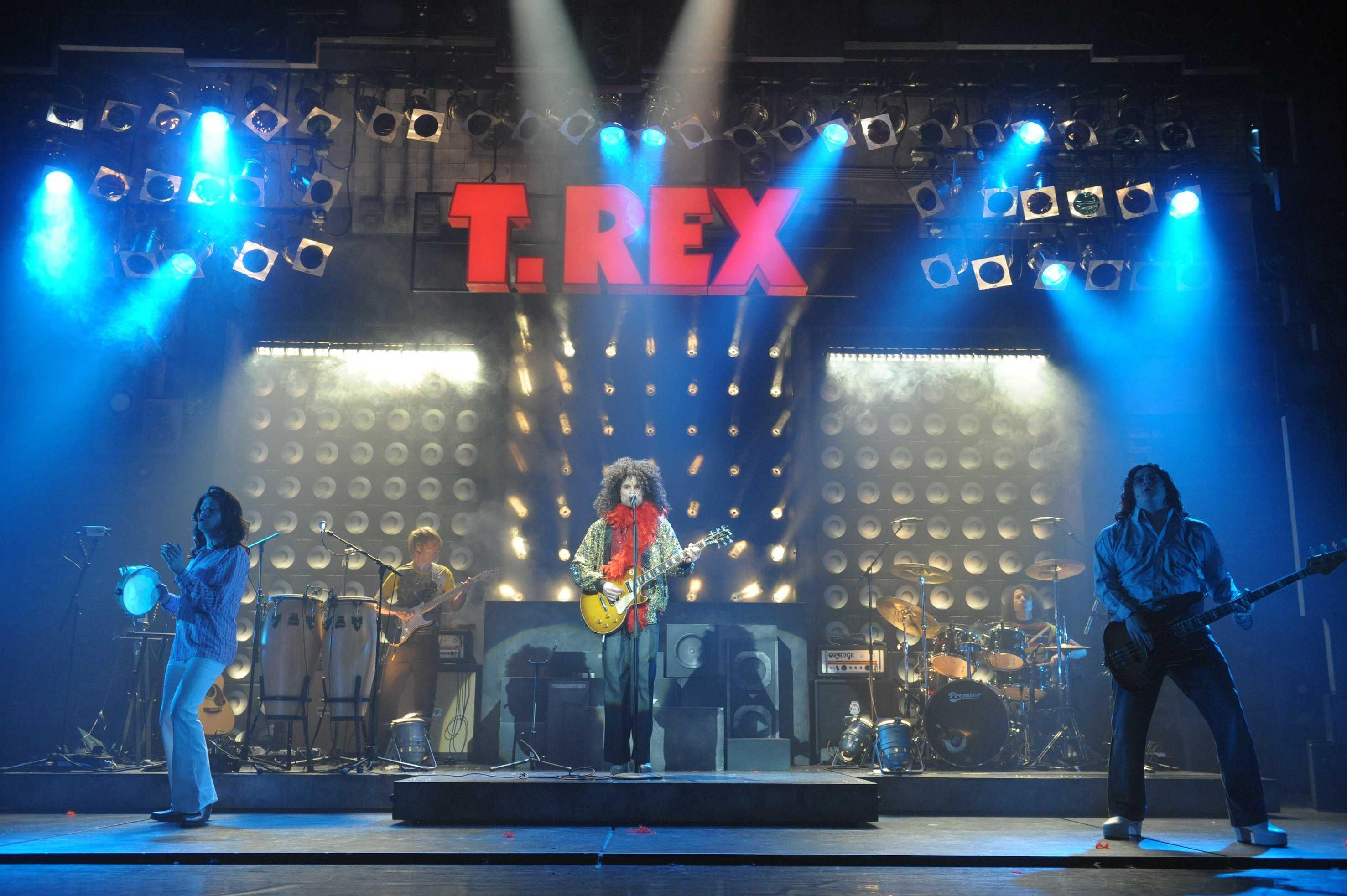 Image of the full stage with T REX sign