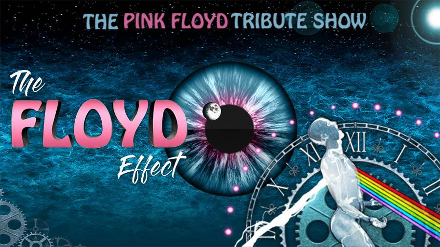 The Floyd Effect poster showing a clock, an eye and an image of Prometheus