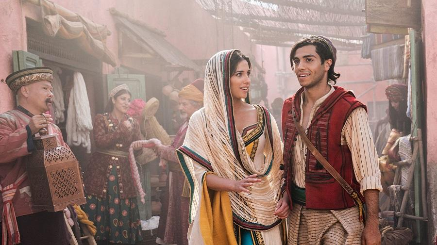 image of Jasmine and Aladdin in the market