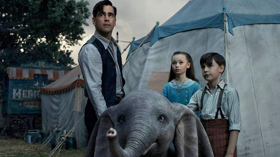image of Colin Farrell, children and Dumbo