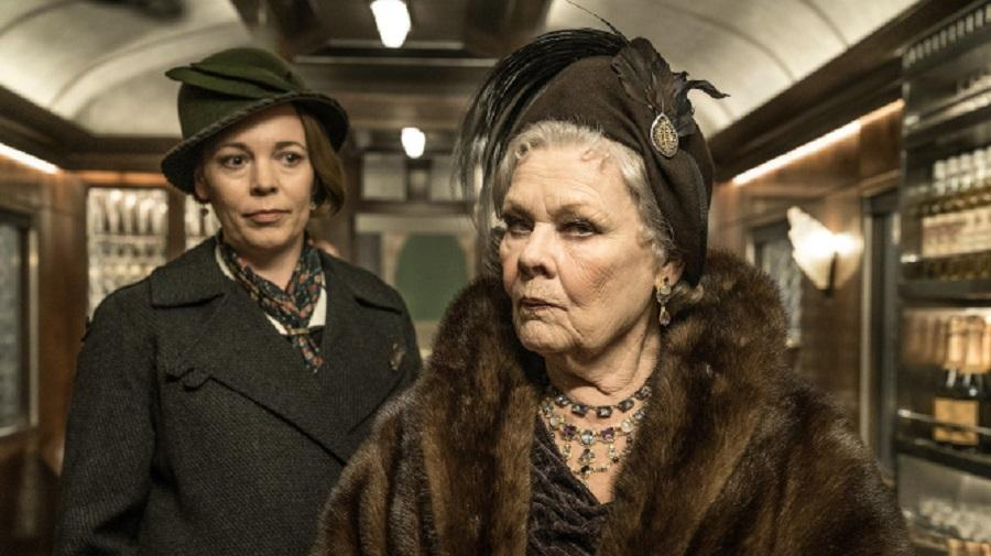 Olivia Coleman and Judi Dench in Murder on the Orient Express