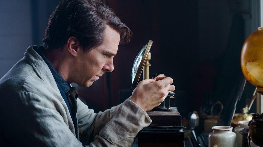 image of Benedict Cumberbatch working on an experiment