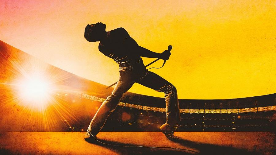 silhouette of Freddie Mercury performing at Live Aid