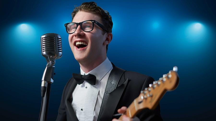 image of a Buddy Holly impersonator