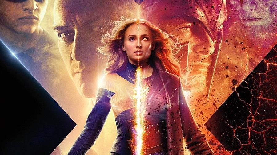 image of Jean Grey stood in front of two heads