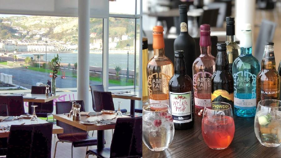 image of restaurant and welsh drinks