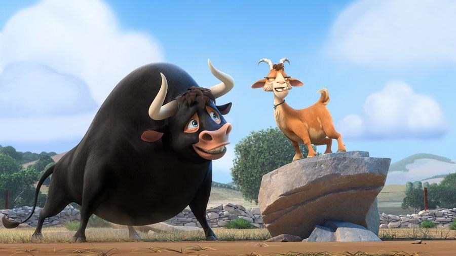 Image of Ferdinand the Bull with a goat