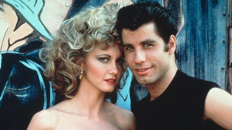 image of Olivia Newton John as Sandy and John Travolta as Danny