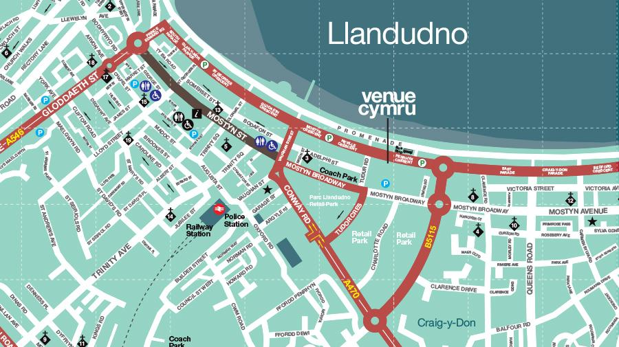Map of llandudno