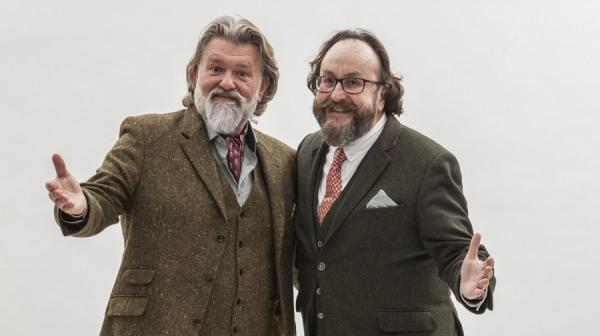 image of the Hairy Bikers dressed in tweed