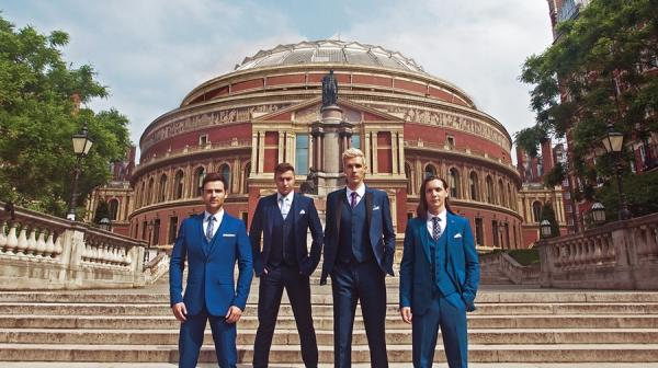 Image of Collabro in front of the Royal Albert Hall