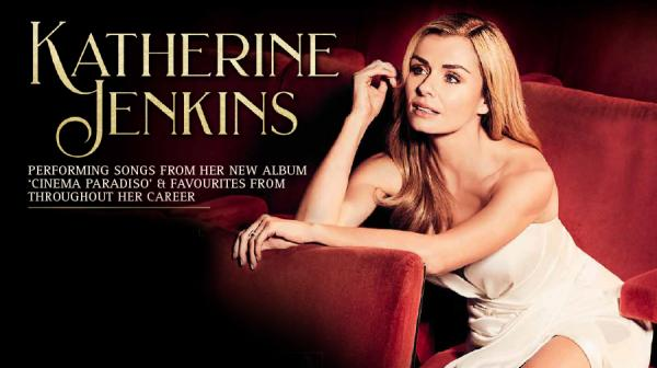 image of Katherine Jenkins sat in a theatre