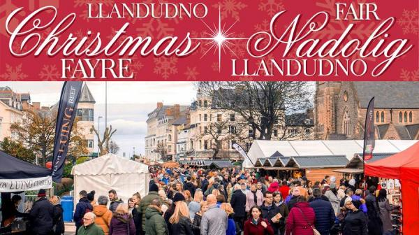 image of  christmas fayre full of visitors