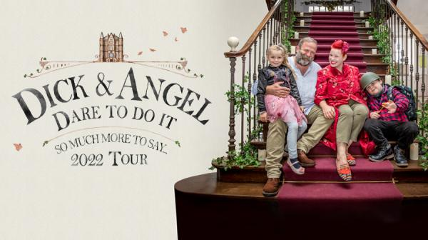 image of Dick, Angel and their children sat on stairs