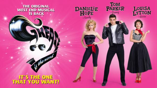 Image of Grease cast and logo