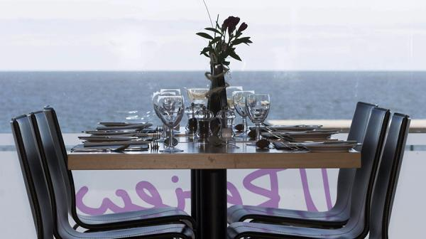 Image of a set table in the restaurant